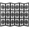"Oriental Furniture 72"" x 84"" Rosewood Long Life Shoji 6 Panel Room Divider"