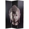 "<strong>Oriental Furniture</strong> 70.88"" x 47.25"" Buddha 3 Panel Room Divider"