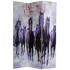 """<strong>70.88"""" x 47.25"""" Horses 3 Panel Room Divider</strong> by Oriental Furniture"""