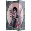 "<strong>Oriental Furniture</strong> 70.88"" x 47.25"" Ladies Shanghai 3 Panel Room Divider"