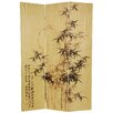 "<strong>Oriental Furniture</strong> 70.25"" x 46.5"" Bamboo Tree Frameless Design 3 Panel Room Divider"