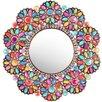 Oriental Furniture Flowers Beads Mirror