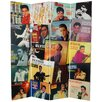 "<strong>Oriental Furniture</strong> 71"" x 63"" Elvis Presley Tall Double Sided Album Covers 4 Panel Room Divider"