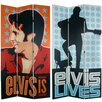 "84"" Tall Double Sided Elvis Presley Lives 3 Panel Room Divider"