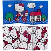 "Oriental Furniture 23.75"" x 47.25"" Tall Double Sided Hello Kitty Bicycle 3 Panel Room Divider"