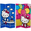"<strong>71"" x 47.25"" Tall Double Sided Hello Kitty Sailor 3 Panel Room Divider</strong> by Oriental Furniture"