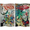 """<strong>71"""" x 47.25"""" Tall Double Sided Spider-Man/X-Men 3 Panel Room Divider</strong> by Oriental Furniture"""