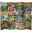 """Oriental Furniture 84"""" x 102"""" Tall Double Sided Marvel Comic Book Covers 6 Panel Room Divider"""