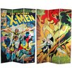 "<strong>Oriental Furniture</strong> 71"" x 47.25"" Tall Double Sided The Uncanny X-Men 3 Panel Room Divider"