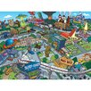 <strong>Oriental Furniture</strong> The Simpsons Town of Springfield Graphic Art on Canvas