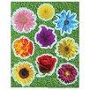 Eureka! Photo Flower Glitter Stickers