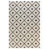 Bashian Rugs Verona Ivory / Black Diamond Lattice Rug