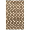LR Resources Jaali Brown Rug