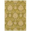 LR Resources Antigua Green Floral Rug