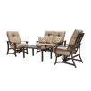 <strong>Villa 4 Piece Deep Seating Group</strong> by Telescope Casual