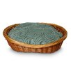 <strong>Snoozer Pet Products</strong> Luxury Wicker Quasar Robins Egg Dog Basket and Bed