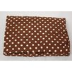 Paisley Splash In Lime Small Brown Dot Crib Sheet