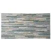 "EliteTile Muro Arriba 24-1/2"" x 12-1/2"" Porcelain Textured Wall Tile in Gris"