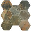 "EliteTile Terrene 16"" x 15.25"" Textured Ceramic Floor and Wall Tile in Multi-colored"