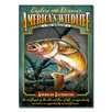 American Expedition Walleye Tin Cabin Sign Wall Decor