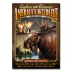 American Expedition Moose Tin Sign Magnet Wall Art