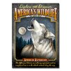 American Expedition Wolf Tin Sign Magnet Wall Art in Gray