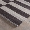 Wildon Home ® Black / White Broken Stripe Rug