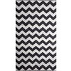 Wildon Home ® Black / White Chevron Rug