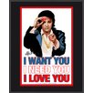 <strong>Mounted Memories</strong> Elvis Presley 'I Want You, I Need You, I Love You' by Joe Petruccio Graphic Art Plaque