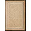 Liora Manne Carlton Natural Stripe Border Indoor/Outdoor Rug