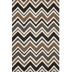 Liora Manne Capri Charcoal See Saw Indoor / Outdoor Area Rug