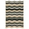 <strong>Carlton Black Waves Indoor/Outdoor Rug</strong> by Liora Manne