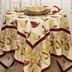 Poire Taupe Burgundy Tablecloth