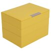 WOLF Stackables 3 Piece Mini Jewelry Box