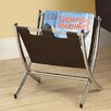Monarch Specialties Inc. Leather-Look / Metal Magazine Rack