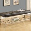 Monarch Specialties Inc. Leather & Metal Bench