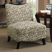 <strong>Monarch Specialties Inc.</strong> Swirl Fabric Slipper Chair