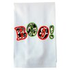 <strong>Samantha Grace Designs</strong> Egyptian Cotton Huck Holiday Applique Boo Hand Towel