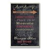 Stupell Industries Home Décor Wine Tasting Typography Chalkboard Look Kitchen Textual Art Plaque