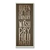 Stupell Industries Home Décor Queen of Laundry Typography Bath Textual Art Plaque