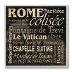 Stupell Industries Home Décor Rome Landmark Square Textual Art Plaque
