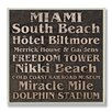 <strong>Stupell Industries</strong> Home Décor Miami Landmark Square Textual Art Plaque
