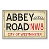 <strong>Stupell Industries</strong> Home Décor Abbey Road NW8 Railroad Textual Art Plaque