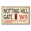 <strong>Stupell Industries</strong> Home Décor Notting Hill Gate W11 Railroad Textual Art Plaque