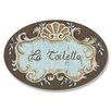 <strong>Home Décor La Toilette Crest Top Oval Wall Décor</strong> by Stupell Industries