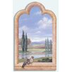 Stupell Industries Birds Cypress Trees Faux Window Scene Painting Print Plaque
