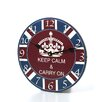 """Stupell Industries 12"""" Keep Calm and Carry On Wall Clock"""