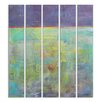 Stupell Industries Abstract Oils Mural Triptych 5 Piece Original Painting Set