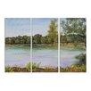 Stupell Industries Calm Day on the Lake Triptych Original Painting