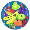 "Stupell Industries 12"" Mixed Fruit Vanity Clock"